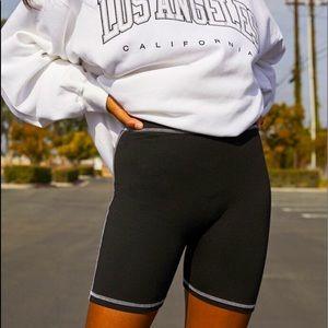 Brandy Melville contrast bike shorts